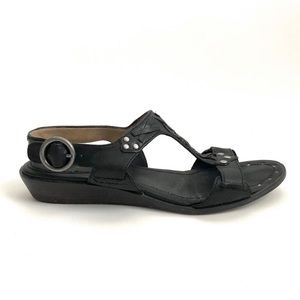 Frye | Avery T Strap Leather Sandals Size 7.5